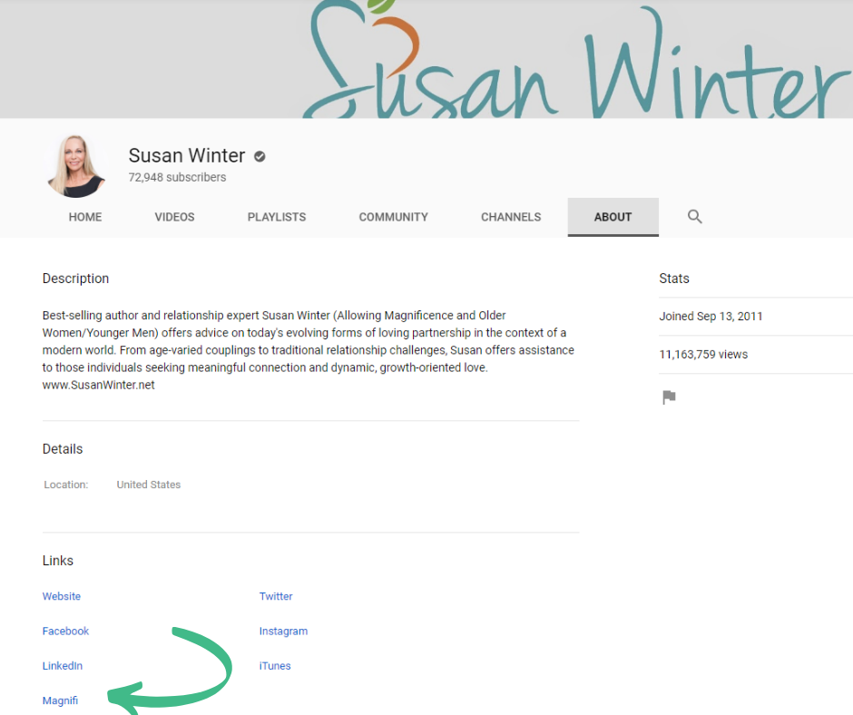 Susan on youtube